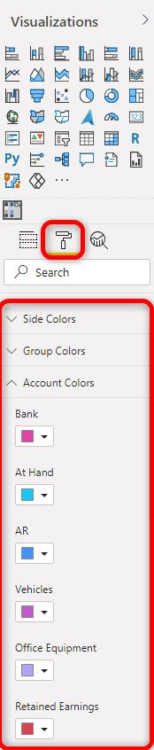 Balance Sheet Color Format
